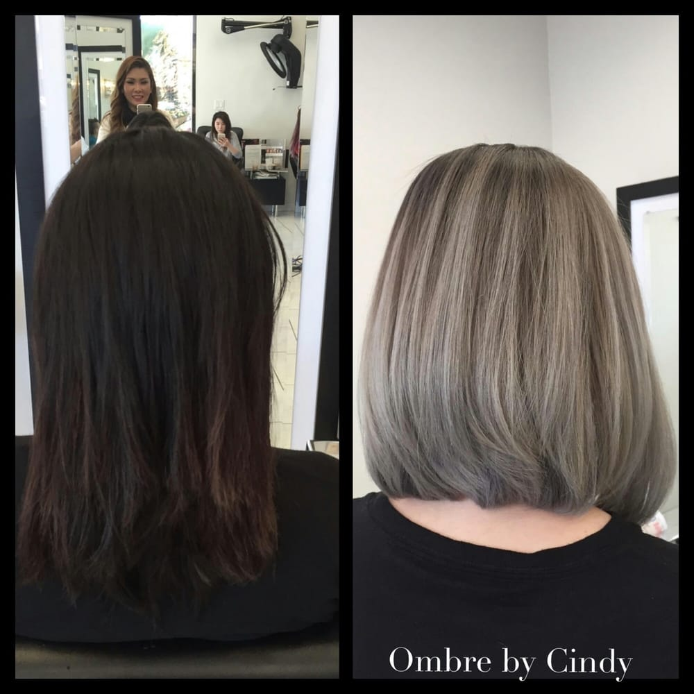 Botched Hair Turned Into Beautiful Bob With Ashy Silver Blond Ombre