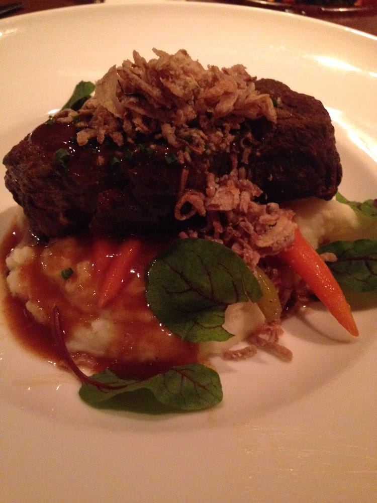 Braised short ribs with moroccan glazed carrots slight for Aicha moroccan cuisine san francisco