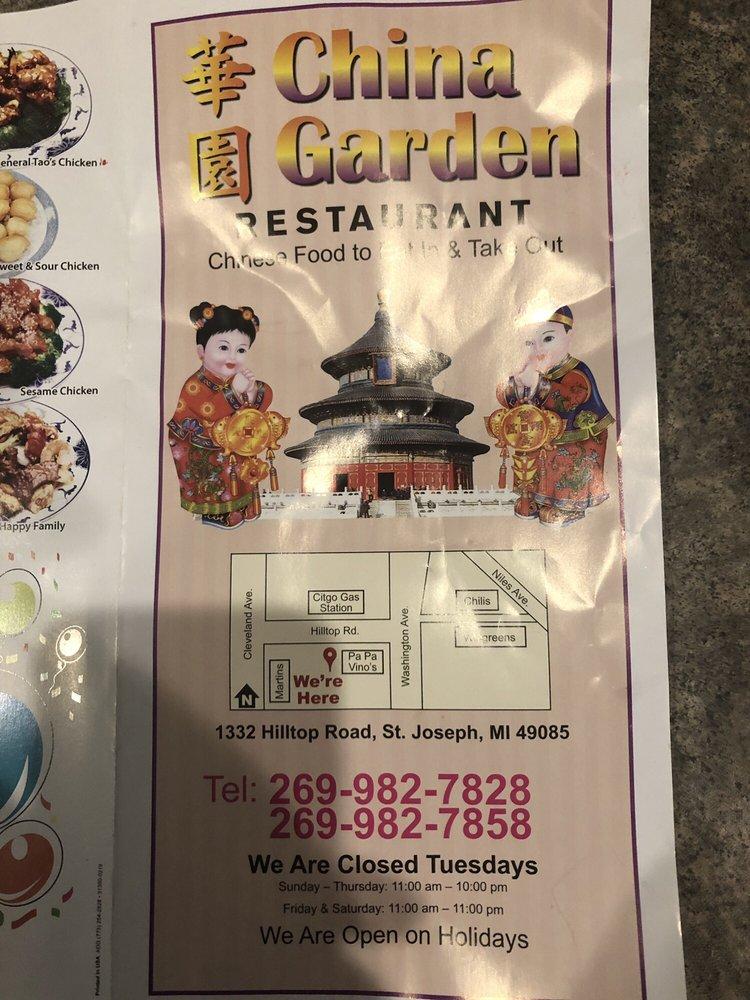 China Garden: 1332 Hilltop Rd, Saint Joseph, MI