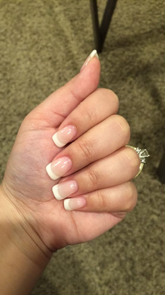 $55 for fill ins for PINK/WHITE UV GEL manicure.They cut the white ...