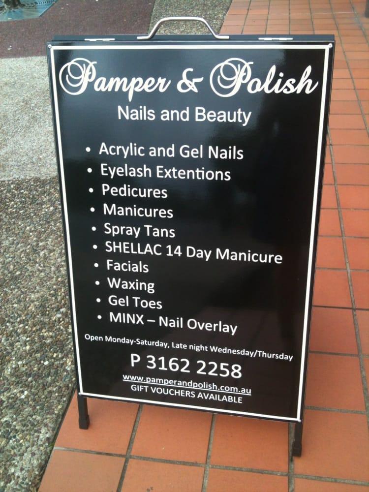 Pamper and polish nail beauty salon nail salons 629 for Acrylic nails salon brisbane