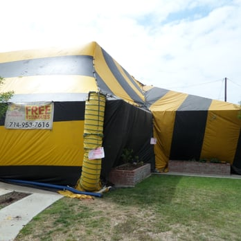 Photo of Aguirre Fumigation - Santa Ana CA United States. house in the : extermination tent - memphite.com