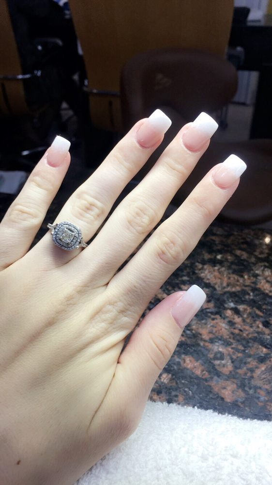 Nice Nail Salon I Got A Sns Dipped With An Ombré French Mani And