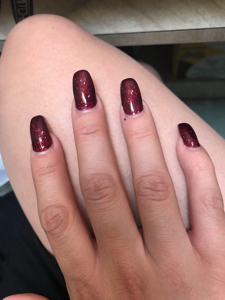 My nails look super rectangular. Not cute. - Yelp