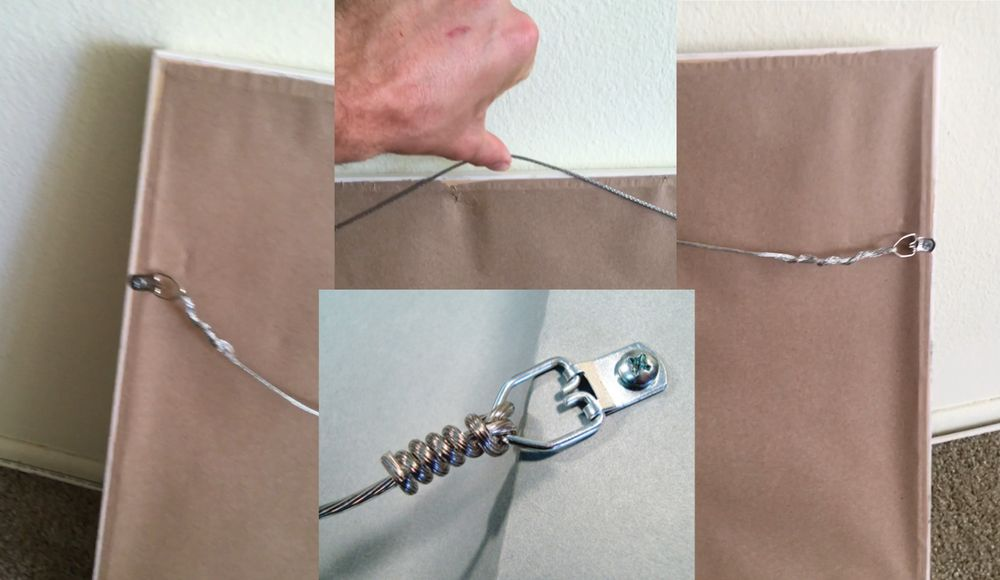 How Hall of Frame attached the hanging wire to one frames and an ...