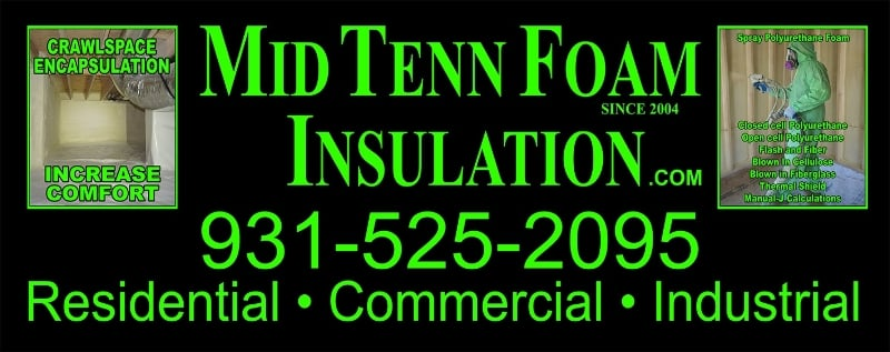 Mid Tenn Foam Insulation: 1910 E Spring St, Cookeville, TN