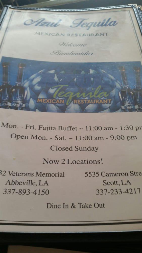 Azul Tequila: 1132 Veterans Memorial Dr, Abbeville, LA