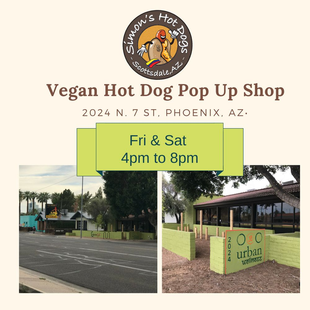 Simon's Vegan Hot Dogs: 2024 N 7th St, Phoenix, AZ