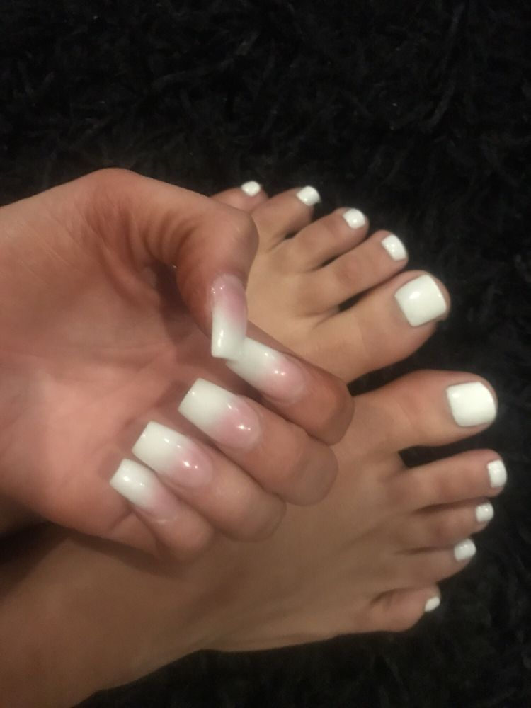 Acrylics baby boomer style thanks marie meticulous white for Baby boom salon