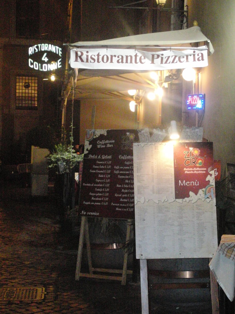 Quattro colonne chiuso cucina italiana via della for La vecchia roma ristorante roma