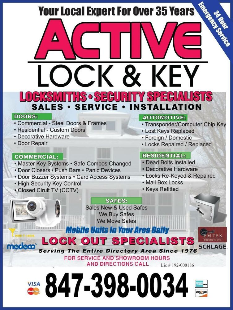 Active Lock & Key: 107 E Central Rd, Arlington Heights, IL
