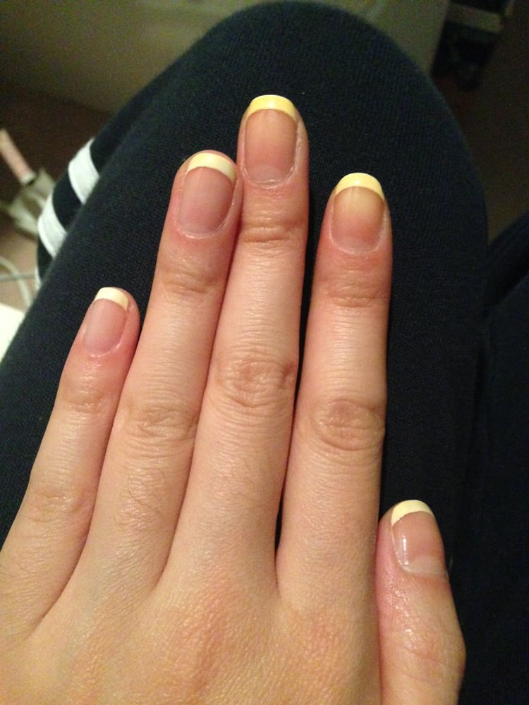 how to give yourself a french manicure like the salon