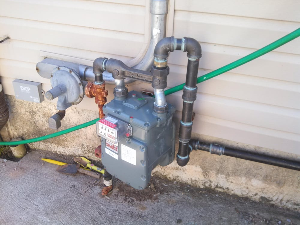 Pool Heaters For Piping : Installed new btu gas meter with all quot