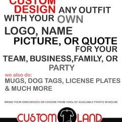 Custom land merchandise butikker 1710 briargate blvd for T shirt printing in colorado springs