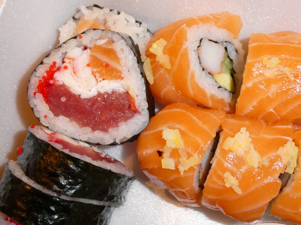 Food from The Sushi Bar