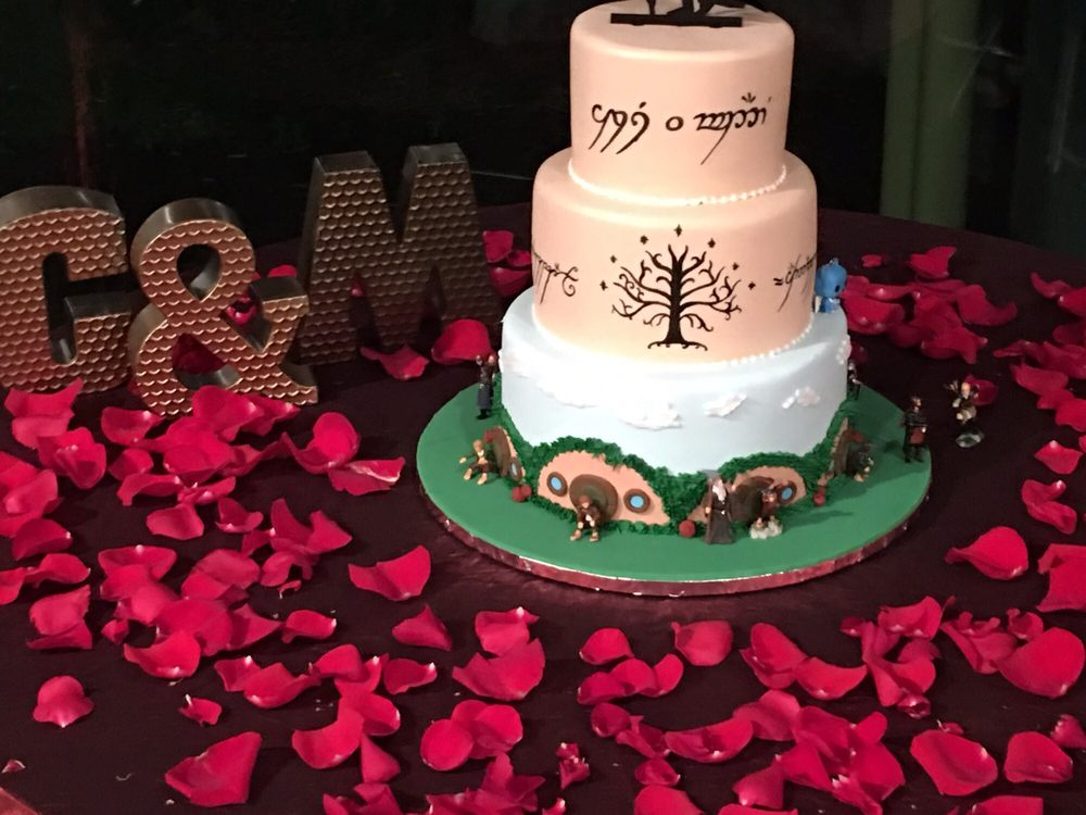 My Lord of the Rings wedding cake! - Yelp