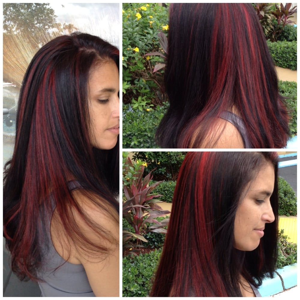 Fire Red Peekaboo Highlights With Dark Base Yelp