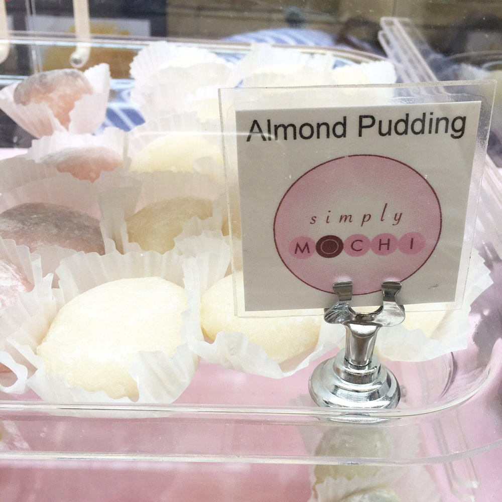 At the Ferry Building on Thursdays. Vegan almond pudding mochi. This ...