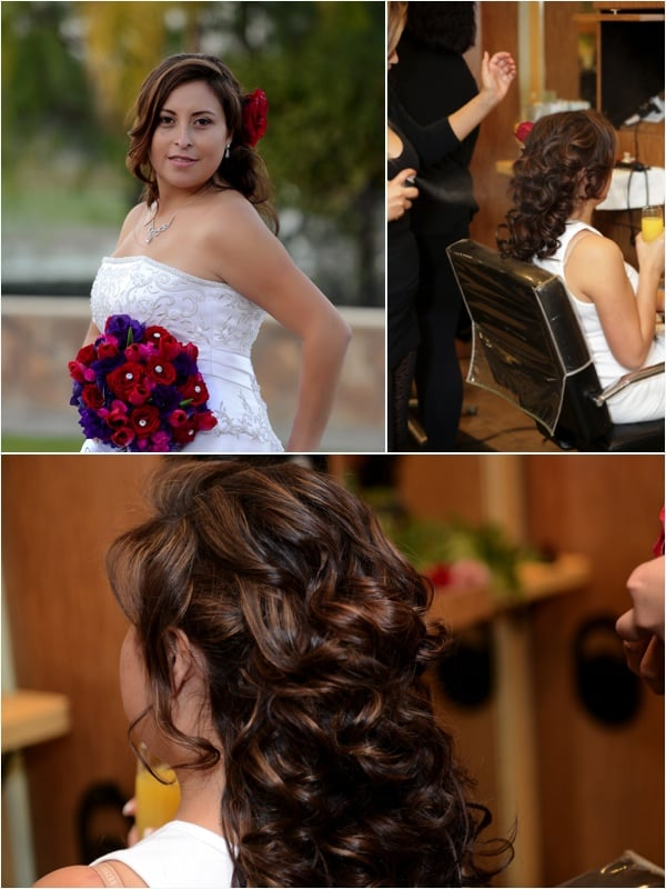 Wedding Hairstyle With Color Highlights And Hair Extensions Done By