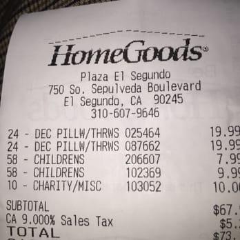 Photo of HomeGoods   El Segundo  CA  United States  Address. HomeGoods   89 Photos   89 Reviews   Department Stores   750 S