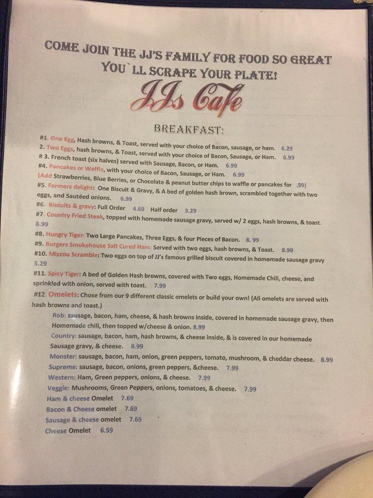 JJ's Cafe: 104 N Allen St, Centralia, MO