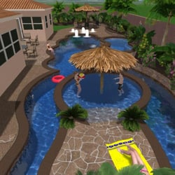 Photo Of Tropical Breeze Custom Pools   Fontana, CA, United States. 3D  Conceptual. 3D Conceptual Design Of Lazy River