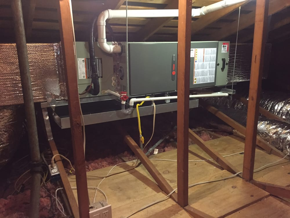 Furnace Install In Attic With Ac Location In San Rafael