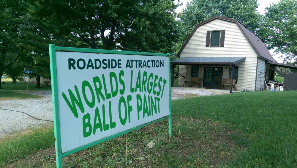 World's Largest Ball of Paint: 10696 N 200th W, Alexandria, IN