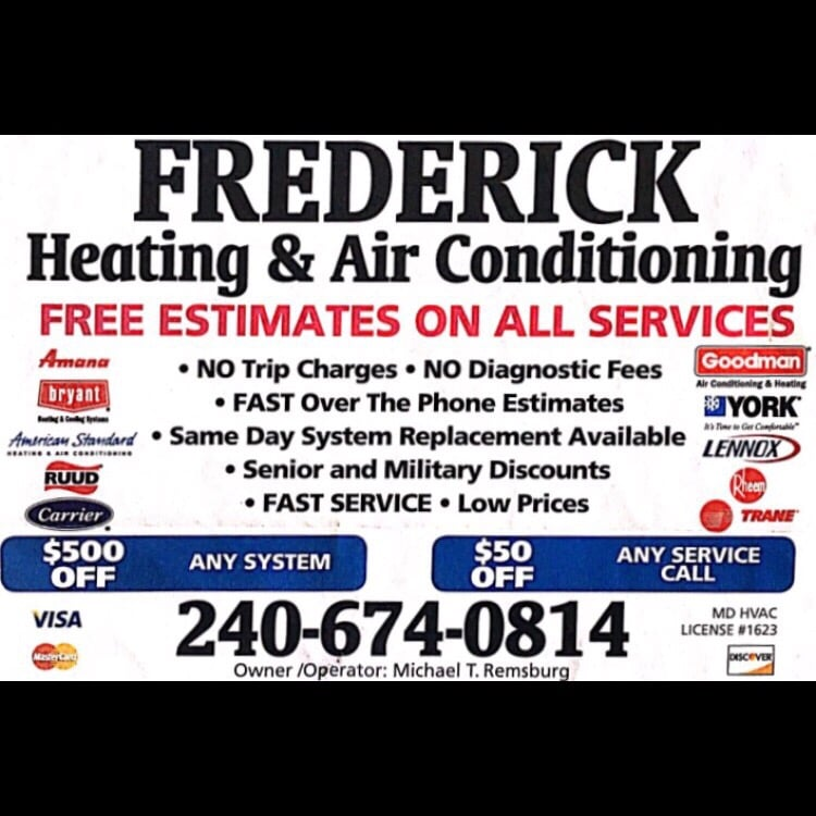 Frederick Heating And Air Conditioning: 4801 Broad Run Rd., Jefferson, MD