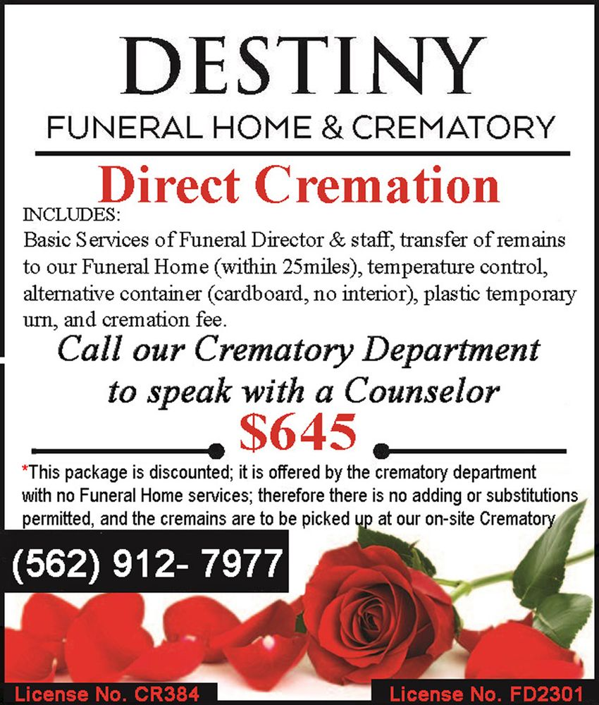 Destiny Funeral Home Long Beach Ca