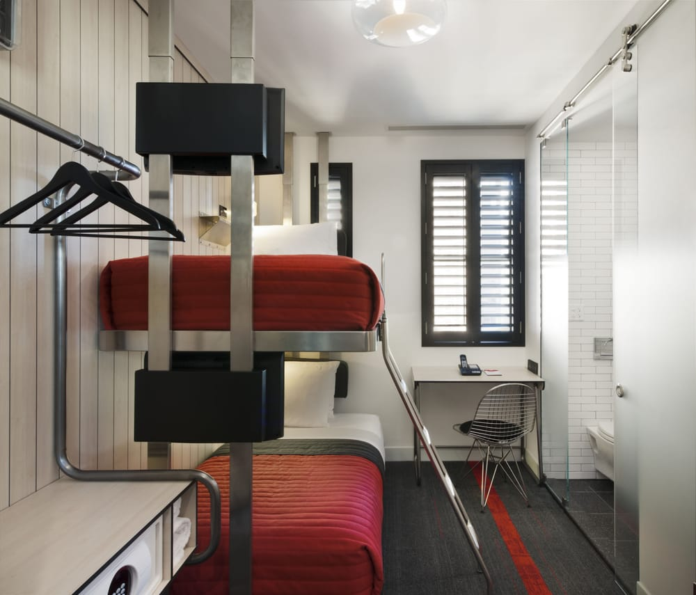 Mini bunk pod yelp for Tablet hotels nyc