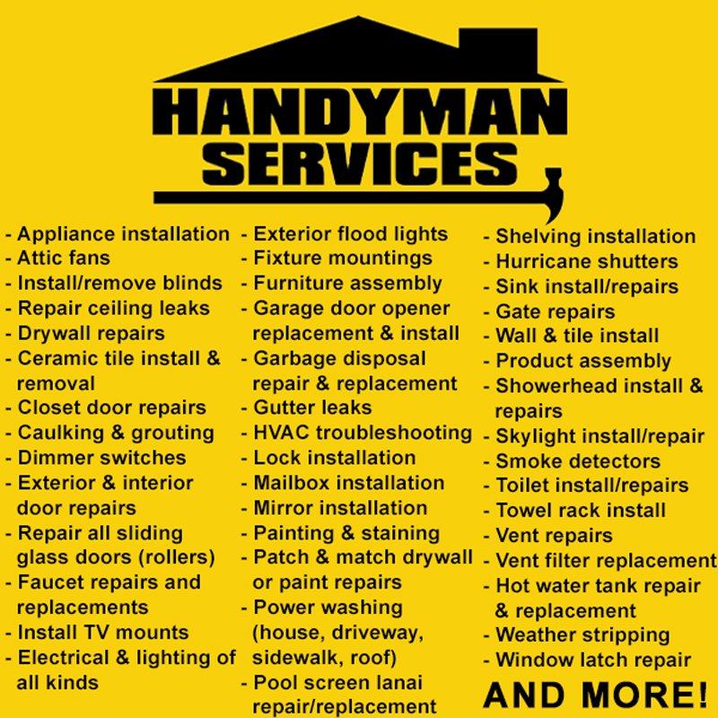 Handyman 1 Fl Handyman 18350 Nw 2nd Ave Miami Fl