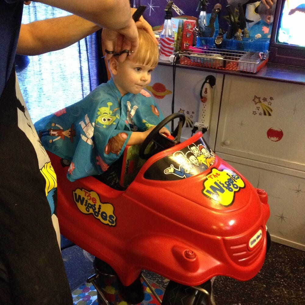 My 2 Year Old Son Getting A Hair Cut At Cubby Cuts They Did A