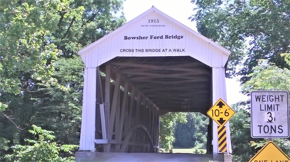 Bowsher Ford Covered Bridge: Kingman, IN