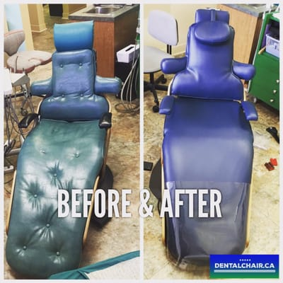 Photo of Dental Chair - Vancouver BC Canada. Before and after. Satisfaction & Dental Chair - Furniture Reupholstery - 8946 Shaughnessy Street ... islam-shia.org