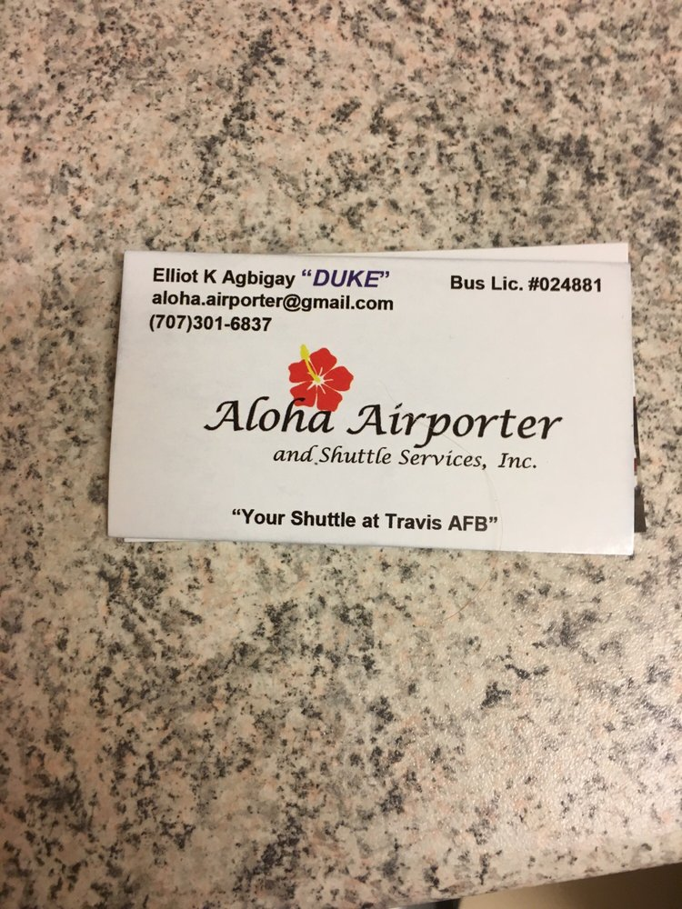 Aloha Airporter and Shuttle Service, Inc.: Travis Air Force Base, CA