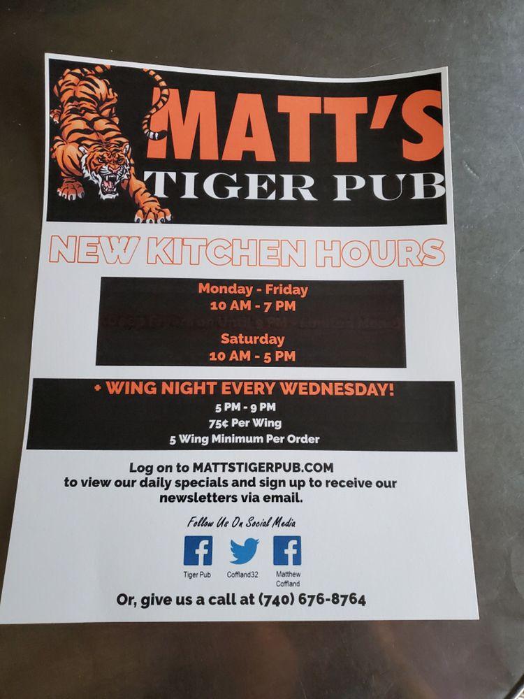 Matt's Tiger Pub: 3932 Central Ave, Shadyside, OH