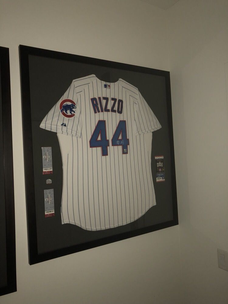 best sneakers 04de9 b4278 anthony rizzo autographed jersey