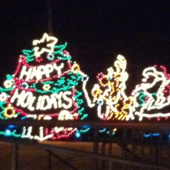 photo of holiday lights at the beach virginia beach va united states