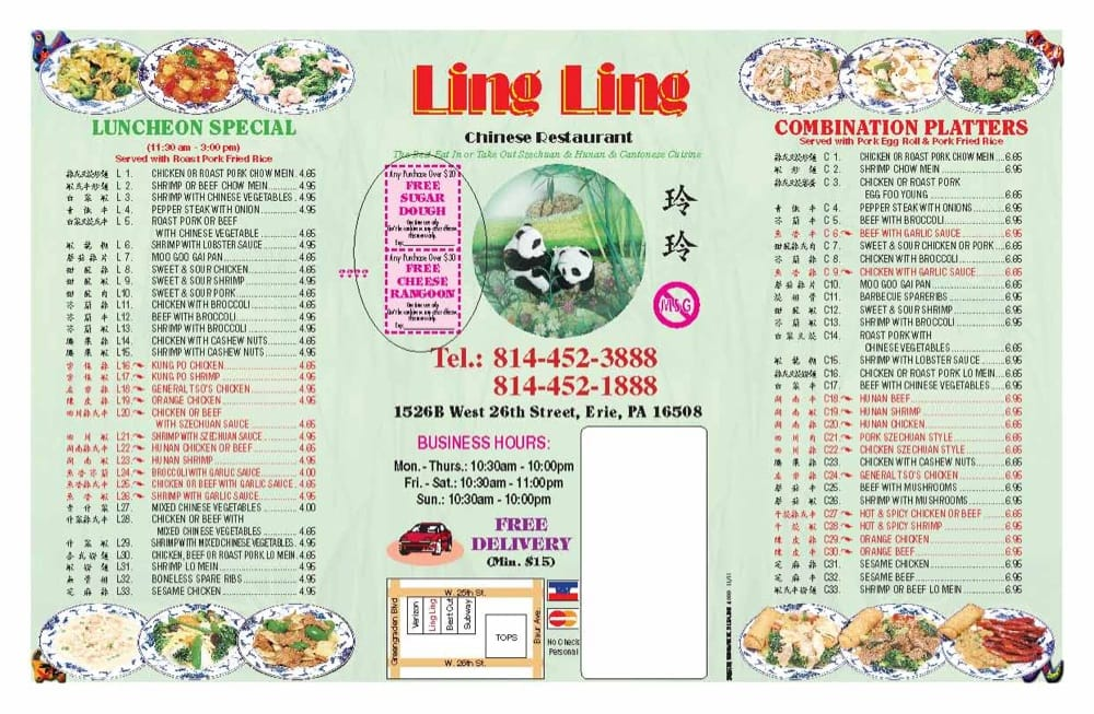 Ling ling 10 reviews chinese 1526b w 26th st erie for Asian cuisine erie pa
