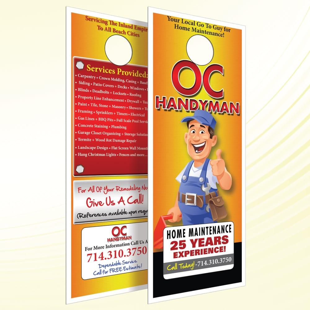 Photo of Front Door Advertising - Huntington Beach CA United States. OC Handyman  sc 1 st  Yelp & OC Handyman Door-Hanger - Yelp