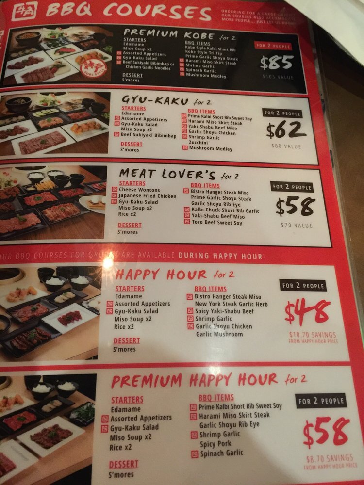 Happy Hour Menu Great Value For What They Offer Yelp