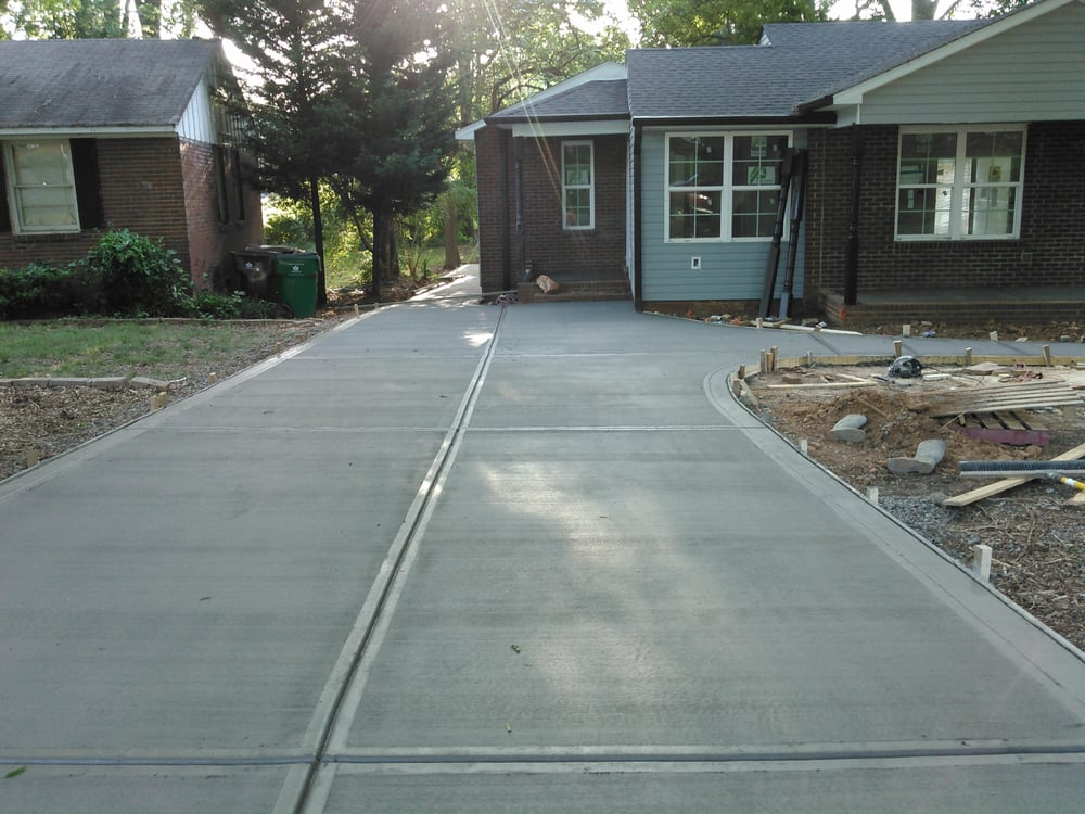 New driveway placement with picture frame finish yelp for New concrete driveway