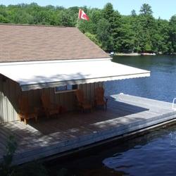 Photo Of The Awning Factory   Bracebridge, ON, Canada. Shade On The Dock