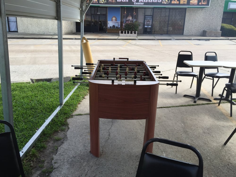 Foosball Table At A Taco Truck Wowie Yelp - Foosball table houston