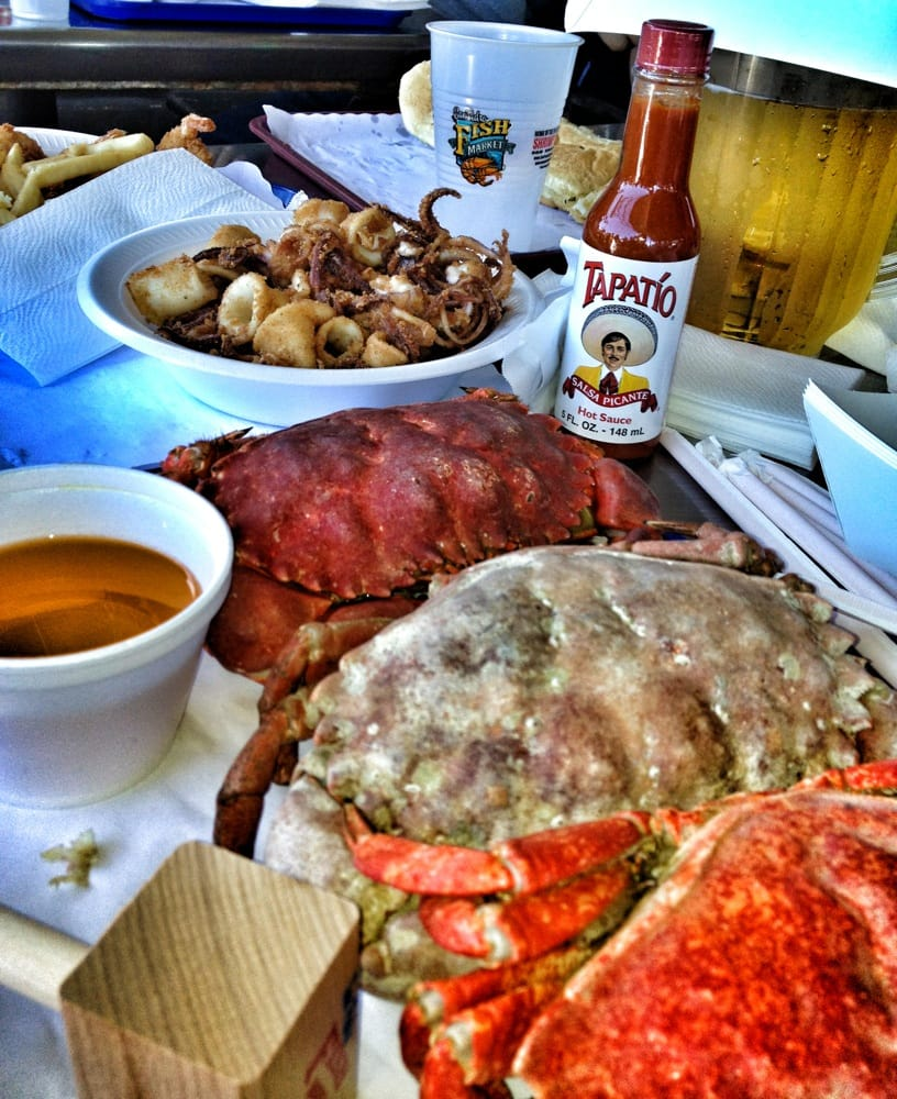 Let the crab eating begin yelp for San pedro fish market and restaurant