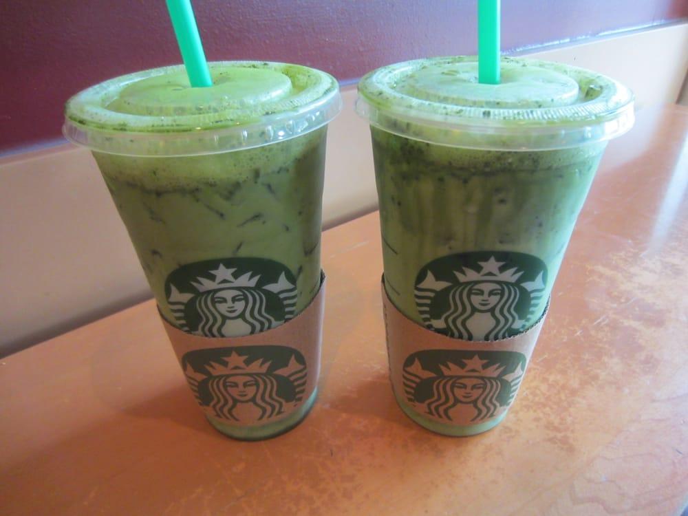 Two venti iced green tea lattes. - Yelp