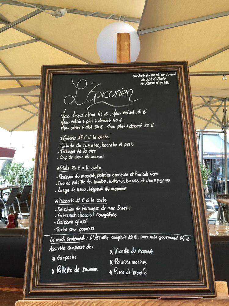 Menu of the day yelp - L epicurien aix en provence ...