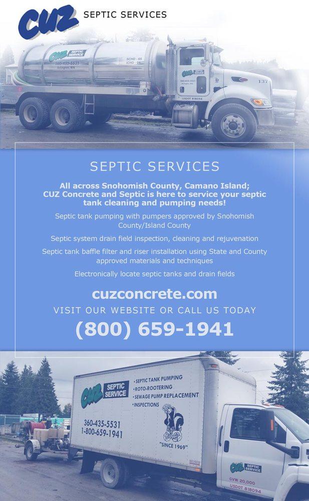 Cuz Septic Service: 19604 67th Ave NE, Arlington, WA