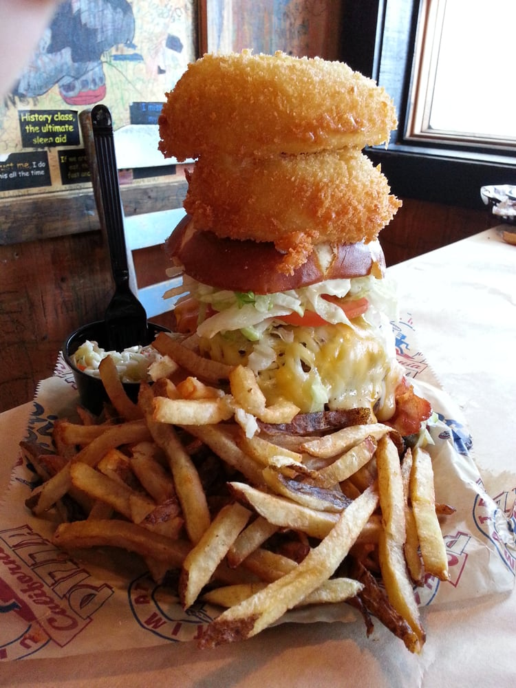 $13.00 - Kitchen Sink Burger - 5 Stars - THE KING OF BURGERS ...